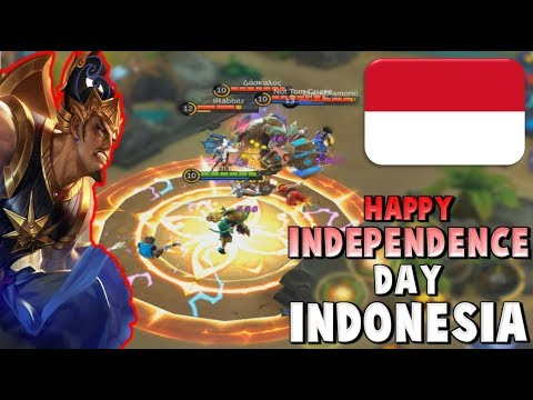 GATOTKACA WISH YOU A HAPPY INDONESIAN INDEPENDENCE DAY ❤ WKWK LAND ! Mobile Legends