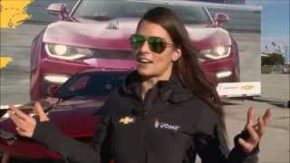 NASCAR Driver Danica Patrick Delivers and Drives the first 2016 Chevrolet Camaro