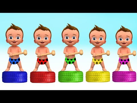 Learn Colors with Bad Baby Tire Educational video for Children Songs for Babies and Toddlers