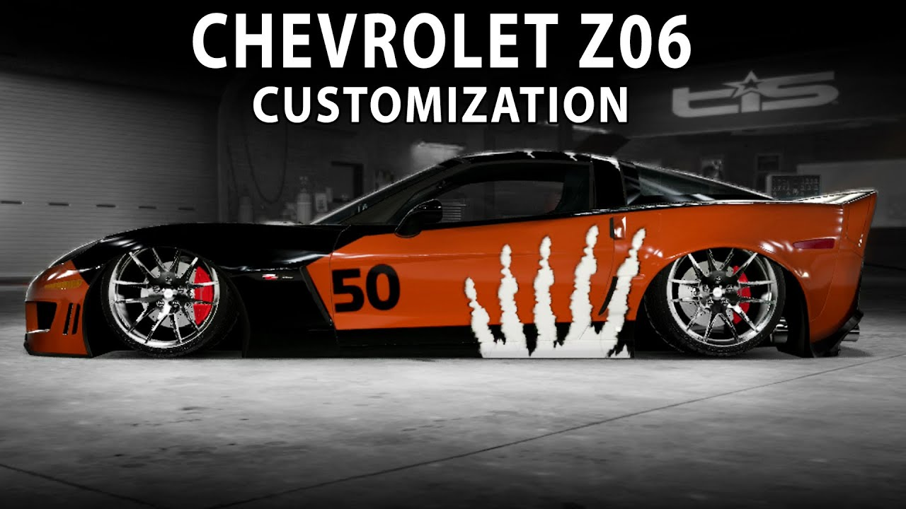 Midnight Club LA Chevrolet Z06 NFS MW Customization