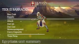 Travian: Fire and Sand - Unit summary Egyptians