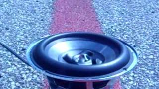 Audiopipe 8 inch subwoofer blows up in smoke