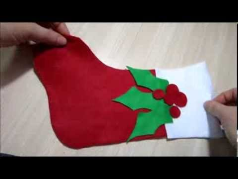 Christmas Craft Ideas - How To Make A Christmas Stocking EASY EASY ...