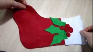 Christmas Craft Ideas - How To Make A Christmas Stocking Easy Easy Easy