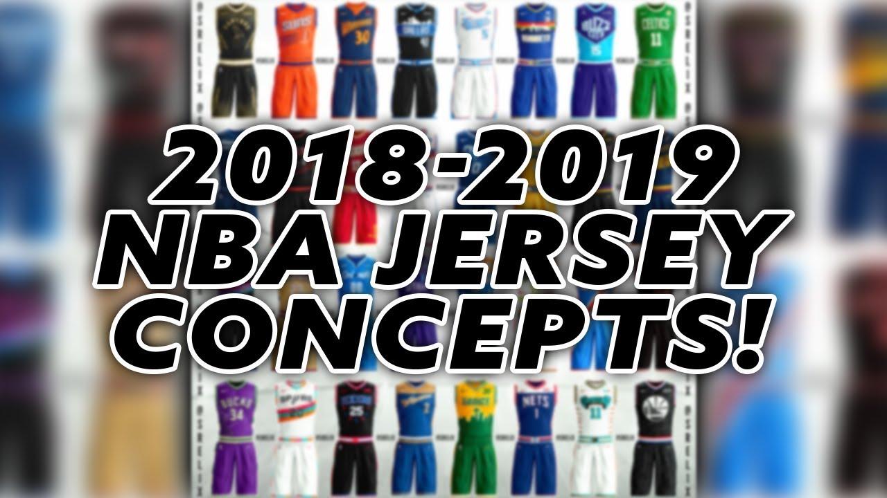 9944228eb INSANE NBA 2018-2019 JERSEY CONCEPTS! NEW JERSEYS FOR EVERY NBA TEAM +  SEATTLE SONICS + ALLSTAR!