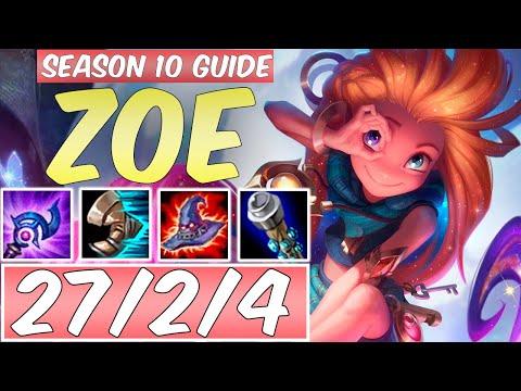 LEARN HOW TO PLAY ZOE SEASON 10 | BEST Build & Runes | Season 10 Zoe Guide | League Of Legends