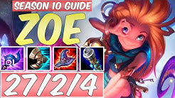 LEARN HOW TO PLAY ZOE SEASON 10 | BEST Build & Runes | Season 10 Zoe guide | League of Legends