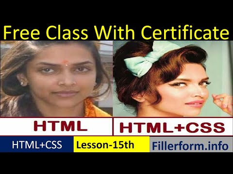 15th Class-How To Add Html To Css| Html Form Design | Web Development Free Course With Certificate,