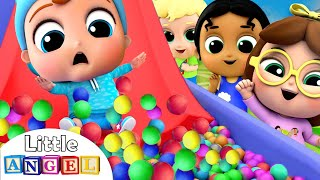 Download 10 Little Babies on the Slide | Playground Song | Little Angel Kids Songs Mp3 and Videos