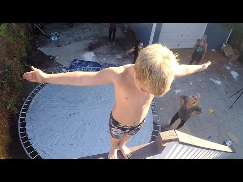 Thumbnail: Duct Tape Trampoline Leap of Faith w/ Rocco Piazza!