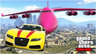 AWESOME GTA 5 STUNTS & FAILS (Funny Moments Compilation) thumbnail