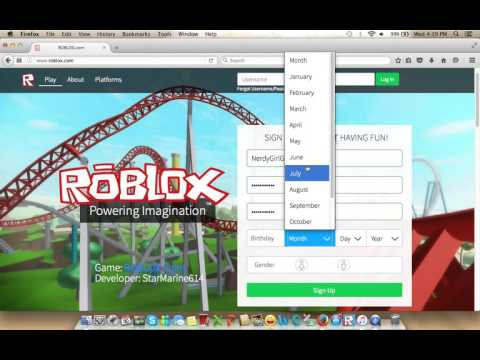 make new roblox account
