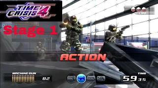 Time Crisis 4: Arcade Game: Stage 1 Play Through