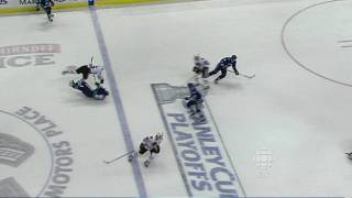 Ben Eager takes a Cheap Shot at Rick Rypien