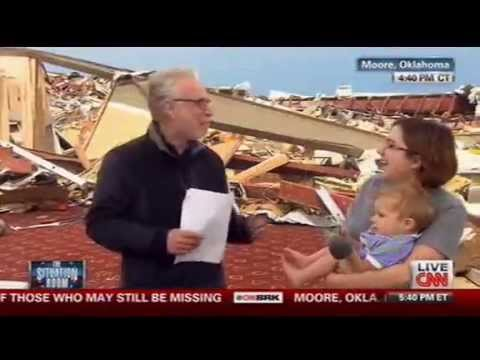 "Wolf Blitzer Asks an Atheist if She ""Thanked the Lord"" # Oklahoma Tornado"