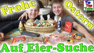 Ostereier suchen Ostern 2016 der Osterhase war da Geschenke und viel Schokolade Kinderkanal