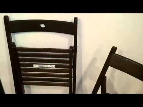 TERJE Folding chair TERJE Krzeslo skladane IKEA) & TERJE Folding chair TERJE Krzeslo skladane IKEA) - YouTube