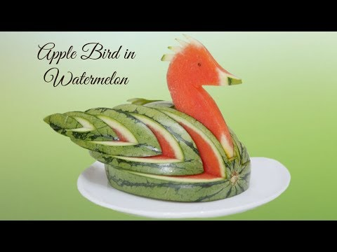 HOW TO MAKE a BIRD CARVED IN WATERMELON | Fruit & Vegetable Carving