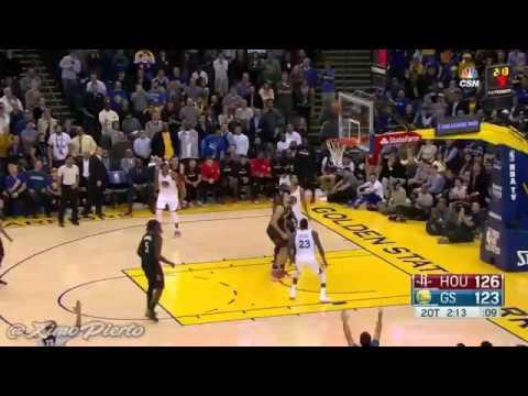 Draymond Green Kicks James Harden Houston Rockets Vs Golden State Warriors 2016-17 Nba Season