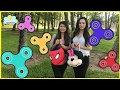 FIDGET SPINNER SURPRISE CHALLENGE! Amazing Spinner toy tricks egg hunt for kids Princess ToysReview