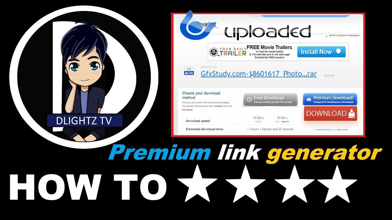 วิธีการดาวน์โหลดเว็บ Uploaded Premium link 2018 100% Working โหลดเร็ว