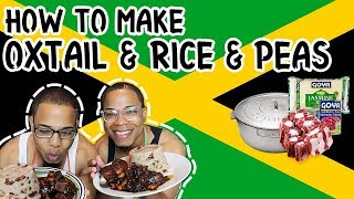 How To Make Oxtail & Rice & Peas | In Di Kitchen w/ BaddieTwinz