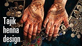 How To Do A Tajik (Persian) Style Henna Design - Intricate and Original Mehndi Pattern