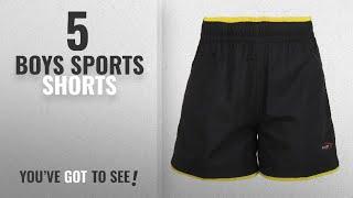 10 Best Boys Sports Shorts [2018 Best Sellers]: Berge Boys' Woven Shorts (9046BLACKYELLOW12_Black