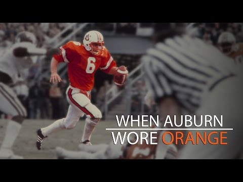 sports shoes 9742d 97203 When Auburn wore orange jerseys - YouTube