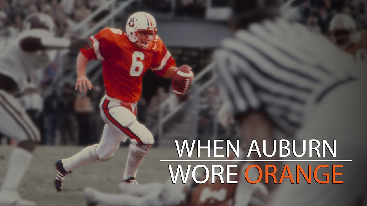 When Auburn Wore Orange Jerseys