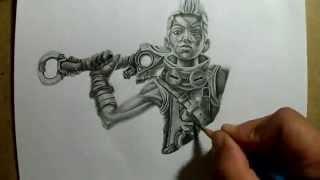 Pencil Drawing Ekko