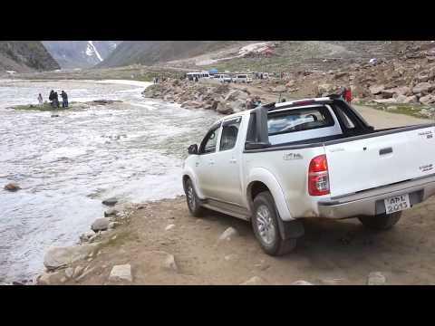 Toyota Vigo in River Kunhar