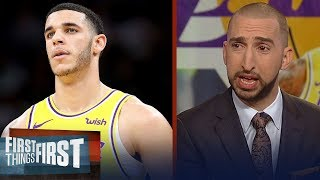 Nick Wright on Lonzo Ball: 'He's been the worst Laker by far' | NBA | FIRST THINGS FIRST