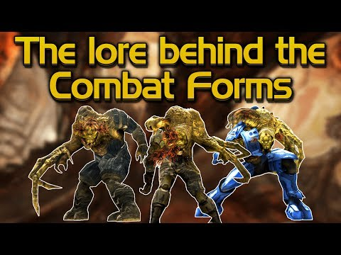 The lore behind the Flood Combat Forms
