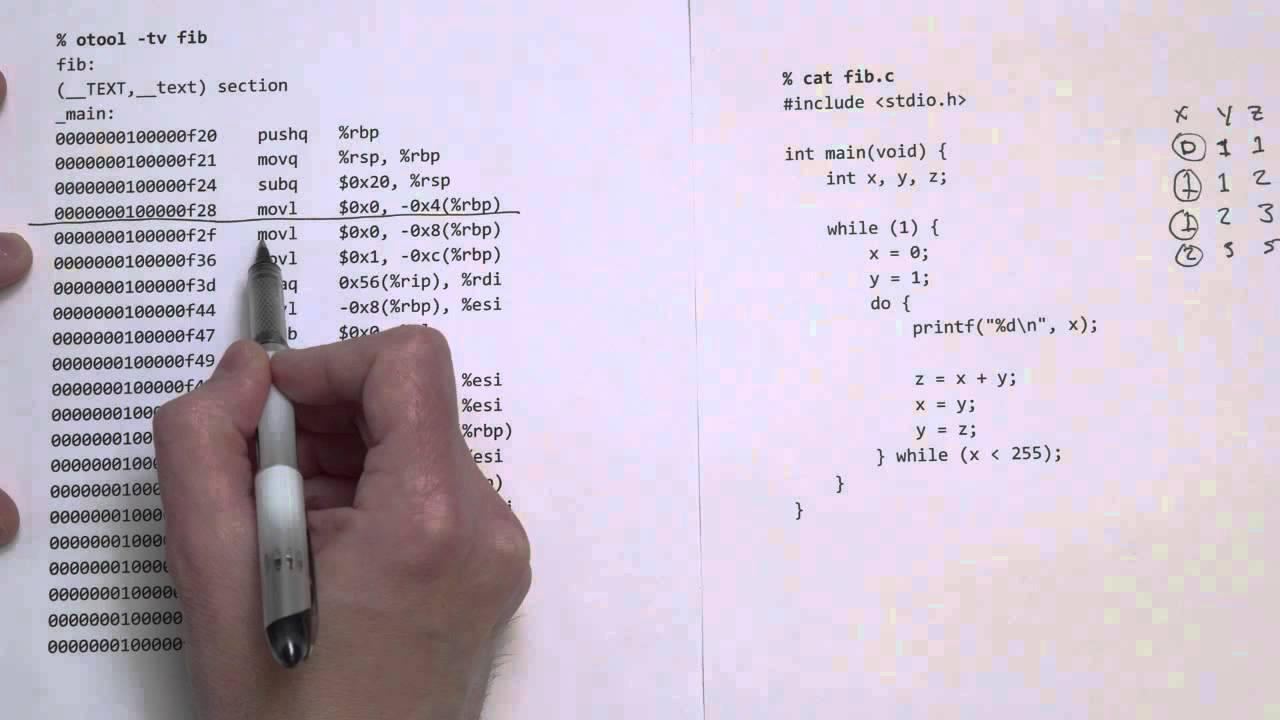 Comparing C to machine language