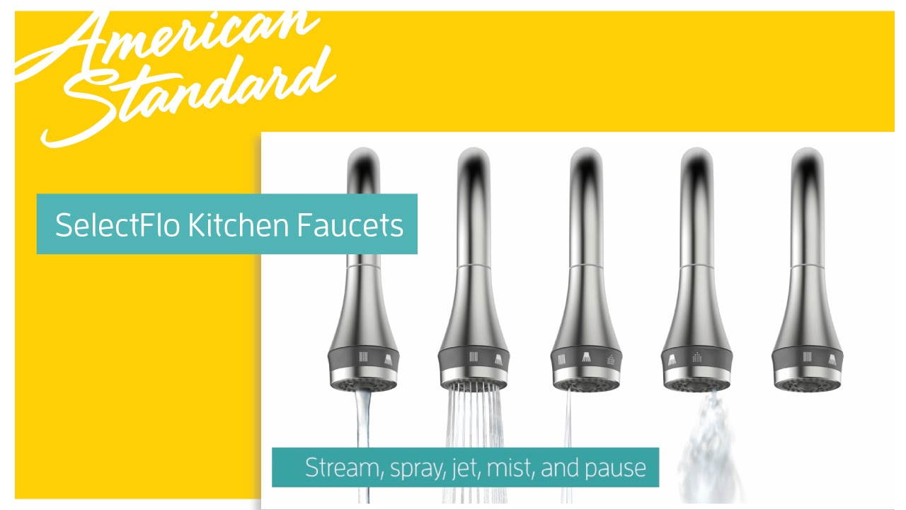 Xavier Selectflo Kitchen Faucets By American Standard Youtube