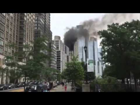 INCENDIO EN EL EDIFICIO DE DONALD TRUMP, EN NEW YORK
