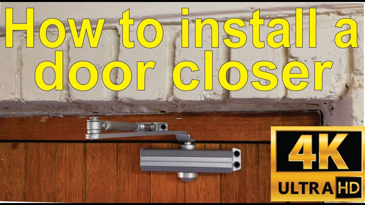 How to install an automatic door closer  YouTube