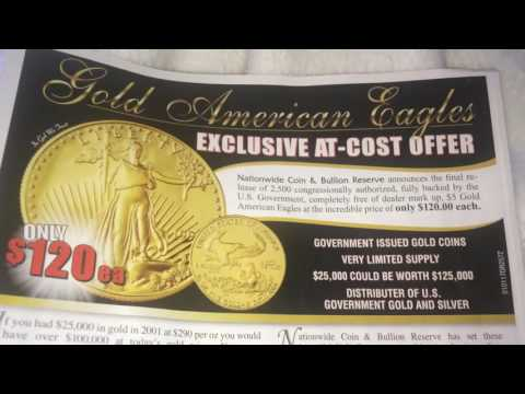 1/7/17 DEAL ALERT: 1/10th oz fine US Gold Eagle - Min. 5 pieces per order + s/h