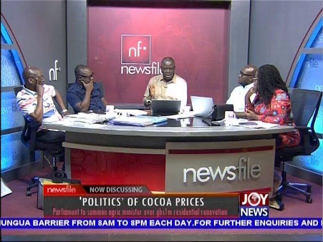 'Politics' of Cocoa Prices - Newsfile on JoyNews (6-10-18)