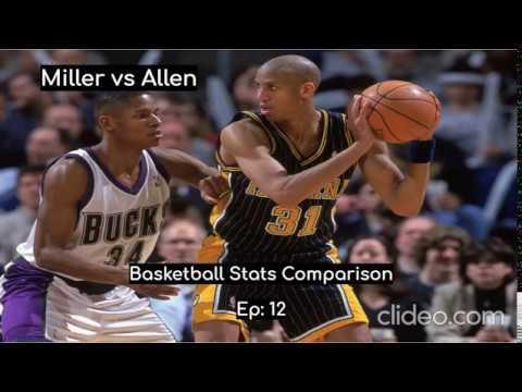 Reggie Miller vs Ray Allen | NBA Stats Comparison | Ep:12 ...