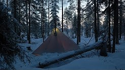 Hot Tent Midwinter Camping, -25°C, January 2020