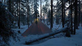 Hot Tent Midwinter Camping, -25°C, Janขary 2020
