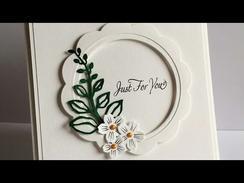 How To Make A Scallop Circle Window Frame Card - DIY Crafts Tutorial - Guidecentral