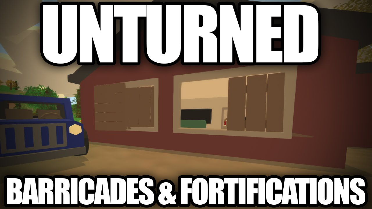 Unturned 3 0 barricades fortifications boarded for Door unturned