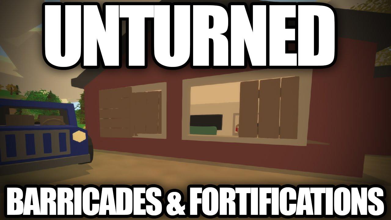 Unturned 3 0 barricades fortifications boarded for Door unturned