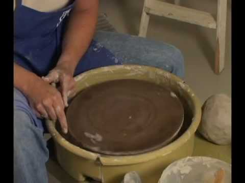 Danielle ~ The Clay Lady - Making a Bat Ring Out of Clay for the Potter's Wheel