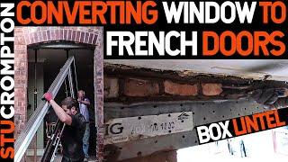 Bricklaying Box Lintel and French Doors conversion