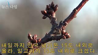 [날씨] 중부지방 '소나기', 황사로 미세먼지 '매우 …