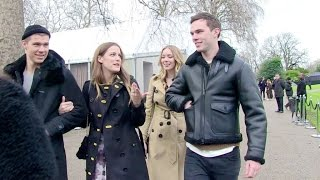 Riley Keough, Nicholas Hoult and more at the Burberry Fashion Show in London